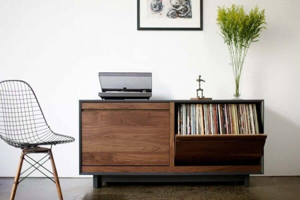 AERO 51 LP Storage Cabinet Walnut