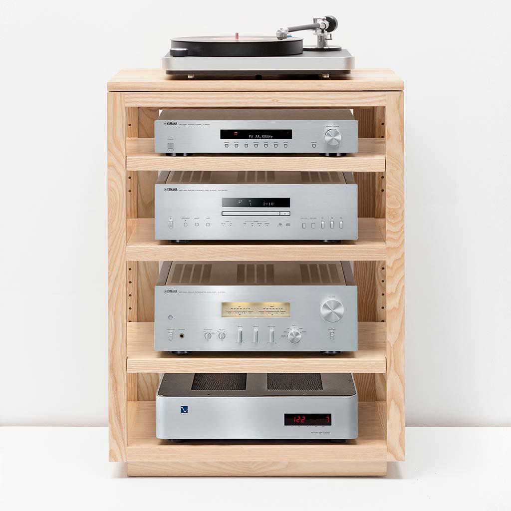 Dovetail Audio Rack with Yamaha