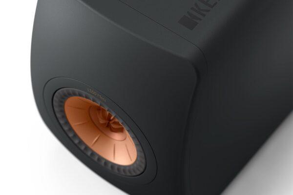 KEF LS50 Meta Carbon Black Finish Detail