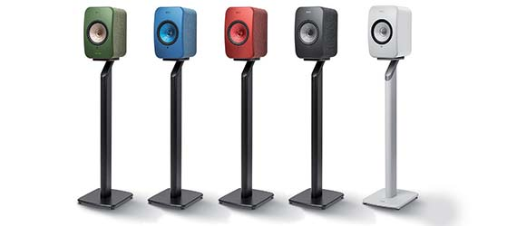 KEF LSX Speaker Stand Group Shot