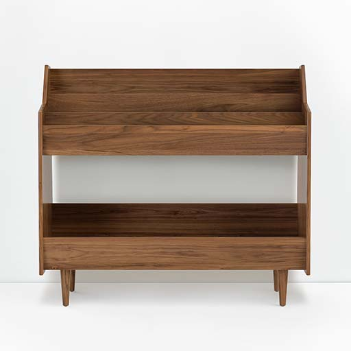 Luxury Record Stand in Dark Solid Wood