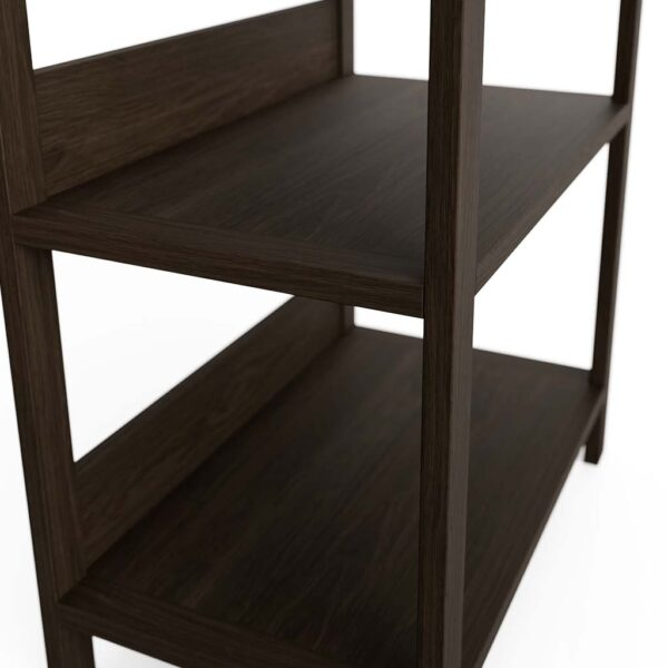 Modern Home Office Bookshelf Solid Oak Pewter
