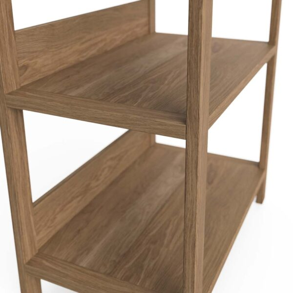 Modern Home Office Bookshelf Solid Oak