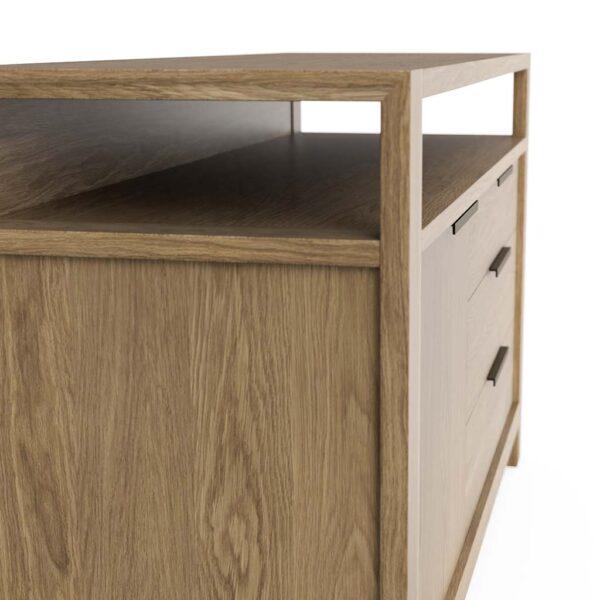 Modern Home Office Sideboard in Solid Oak
