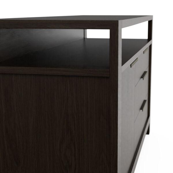 Modern Home Office Sideboard in Solid Oak Pewter