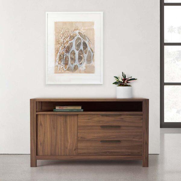 Modern Home Office Side Board from Solid Walnut
